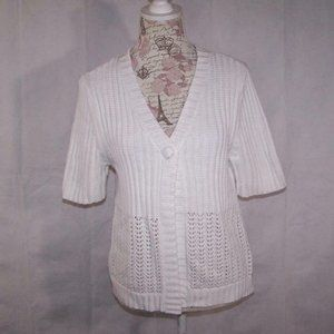 Croft & Barrow Sweater Shrug Large Button Front